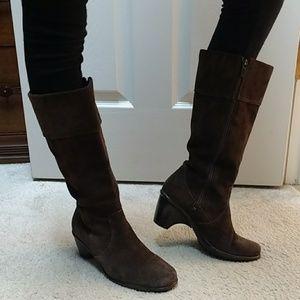 Dansko brown suede boots